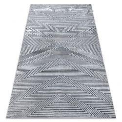 Килим Structural SIERRA G5013 плоский тканий сірий - зигзаг, етнічні