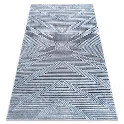 Килим Structural SIERRA G5013 плоский тканий синій - зигзаг, етнічні