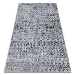 Килим Structural SIERRA G6042 плоский тканий сірий - Геометричні, етнічні