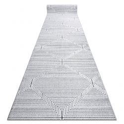 Доріжки Structural SIERRA G5018 плоский тканий сірий - смужки, алмази