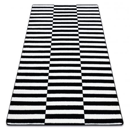 Килим SKETCH - F132 біло-чорний ремені