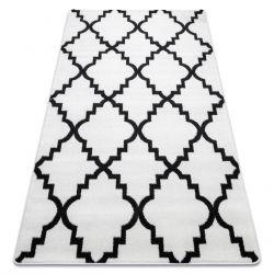 Килим SKETCH - F343 біло-чорний Марокканський візерунок