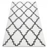 Dywan SKETCH - F343 biało/szara koniczyna marokańska trellis