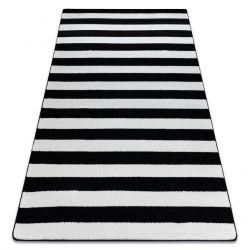 Килим SKETCH - F758 біло-чорний ремені