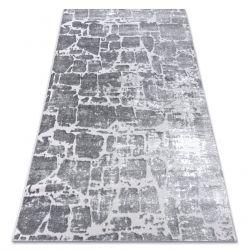 сучасний килим MEFE 6184 Мощення цегла - Structural два рівні флісу темно-сірий