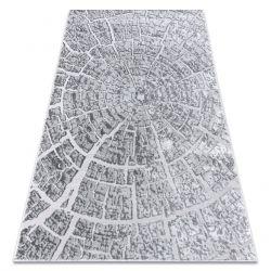 сучасний килим MEFE 6185 Дерево - Structural два рівні флісу сірий