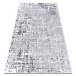 сучасний килим MEFE 8722 Лінії vintage - Structural два рівні флісу сірий / білі