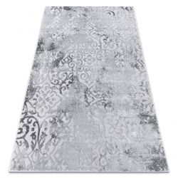 сучасний килим MEFE 8724 Орнамент vintage - Structural два рівні флісу сірий