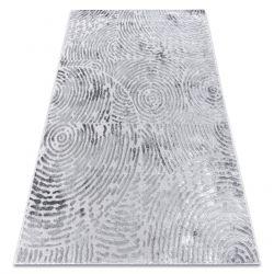 сучасний килим MEFE 8725 кола Відбитки пальців - Structural два рівні флісу сірий