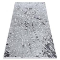сучасний килим MEFE 2784 Дерево - Structural два рівні флісу сірий