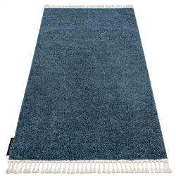 Килим BERBER 9000 крапки синій бахромою волохатий