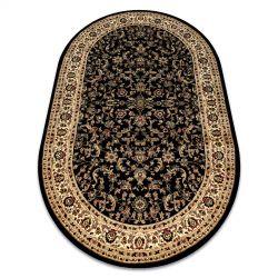 Килим ROYAL ADR овальні модель 1745 чорний