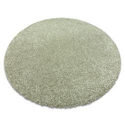 сучасний миється килим ILDO 71181044 коло оливково-зелений