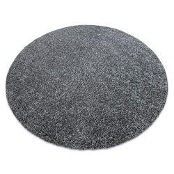 сучасний миється килим ILDO 71181070 коло антрацит сірий