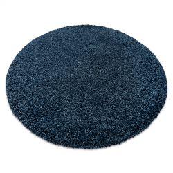 сучасний миється килим ILDO 71181090 коло темно-синій
