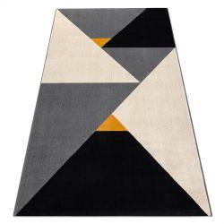 Килим SCANDI 18464672 - трикутники Геометричні сірий крем білий
