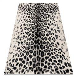 Килим GNAB 60638363 Леопардовий принт білі / сірий / білий