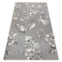 Килим GNAB 60642653 квіт троянди сірий / білі