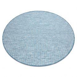 Килим шнуровий SIZAL LOFT 21198 коло BOHO слонова кістка/срібло/синій