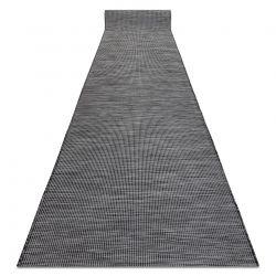 Плоский тканий бігун SISAL PATIO, рівномірний дизайн 2778 чорний