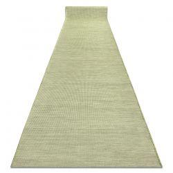 Плоский тканий бігун SISAL PATIO, рівномірний дизайн 2778 зелений