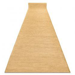Плоский тканий бігун SISAL PATIO, рівномірний дизайн 2778 жовтий, золото