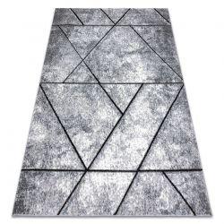 сучасний килим COZY 8872 Wall, Геометричні, Трикутники - Structural два рівні флісу сірий / синій