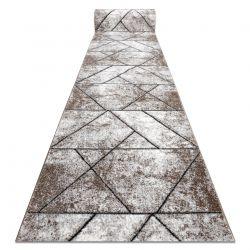 бігун COZY 8872 Wall, Геометричні, Трикутники - Structural два рівні флісу коричневий