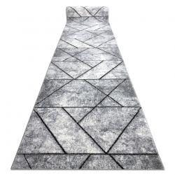 бігун COZY 8872 Wall, Геометричні, Трикутники - Structural два рівні флісу сірий / синій
