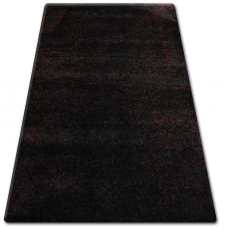 Килим SHAGGY NARIN P901 чорний червоний