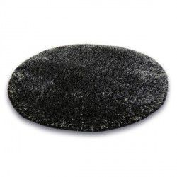 Килим колесо SHAGGY NARIN P901 чорний диня