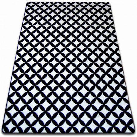 Килим SKETCH - F757 біло-чорний діамант