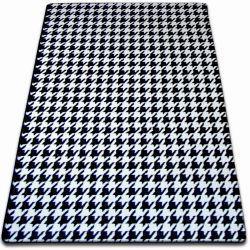 Килим SKETCH - F763 біло-чорний