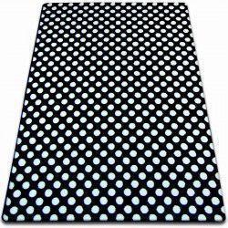 Килим SKETCH - F764 чорний/біло крапки