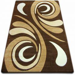 Килим FOCUS - 8695 коричневий хвиля венге какао