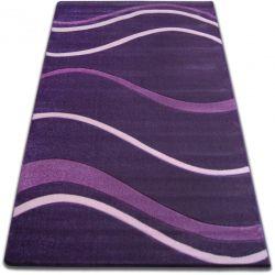 Килим FOCUS - 8732 темно- фіолетовий хвилі лінії