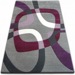 Килим FOCUS - F242 сірий квадрати фіолетовий
