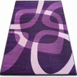 Килим FOCUS - F242 темно- фіолетовий квадрати