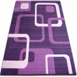 Килим FOCUS - F240 темно- фіолетовий квадрати