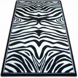 Килим FOCUS - 9032 зебра білий чорний