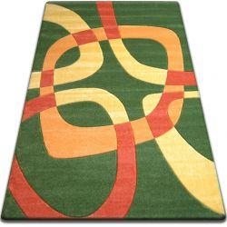 Килим FOCUS - F242 зелений квадрати