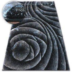 Килим Shaggy SPACE 3D B217 темно- сірий чорний